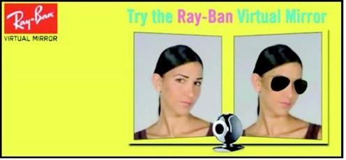 01-ray ban virtual mirror-AR technology-VR technology-Augmented reality-virtual reality