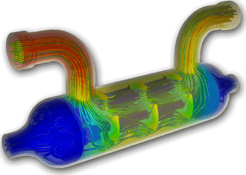 cfd_heat_exchanger-flow-simulation-heat-transfer-rates-mass-flow-rates-pressure-drops