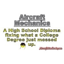 01-aircraft mechanics design - Mechanical Engineering T-Shirt Design