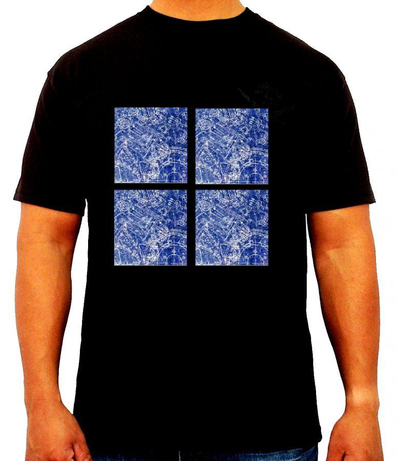 01-mech t shirt - blue print designs