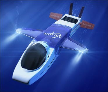08-Sir richard bransons flying submarine-to explore ocean depths-virgin group-flying mini submarine-necker nymph