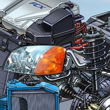 01-fuel cell car-power control unit