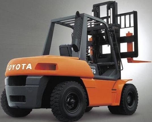 Toyota Forklift surface equipment handling unit load and bulk load