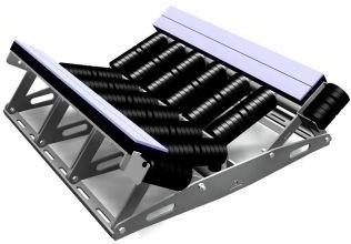01-belt conveyor loading-idler spacing-carrying idler-return idler-troughed belt training idler-flat belt idler-belt width-belt length