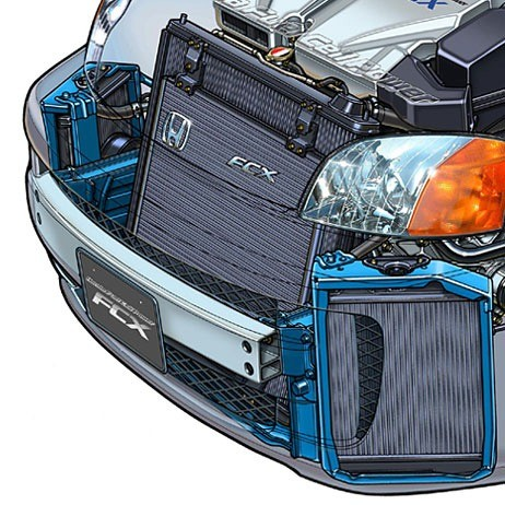 01-fuel cell car-cooling