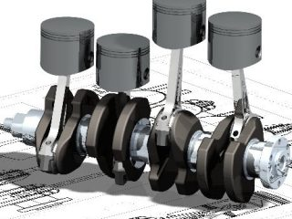 b1360 01caddesigncaddrafting4strokeenginedesignpistonandcrankassemblycomputeraideddesignsoftware1 2D Design AutoCAD What Are CAD Drawings | 2D Design | 3D Design |Modeling | Drafting | By CAD Software's like Pro-e