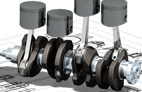 b1360 01caddesigncaddrafting4strokeenginedesignpistonandcrankassemblycomputeraideddesignsoftware1 2D Design AutoCAD What Are CAD Drawings | 2D Design | 3D Design |Modeling | Drafting | By CAD Software's like Pro-e