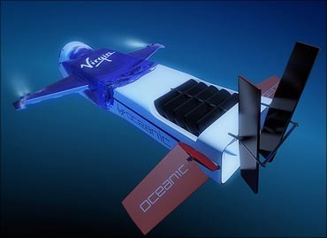 02-Sir richard bransons flying submarine-to explore ocean depths-virgin group-flying mini submarine-necker nymph