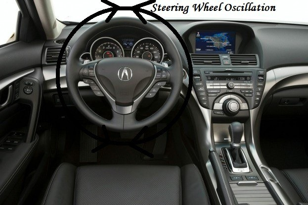 Shimmy steering wheel to oscillate - High speed shimmy - Low speed shimmy due to roughness of road