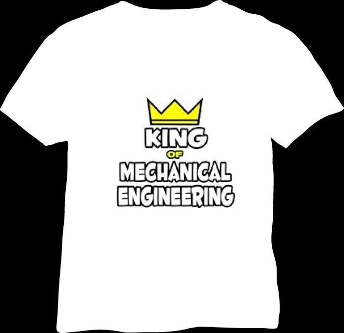 01-plain t-shirts-king of mechanical engineer