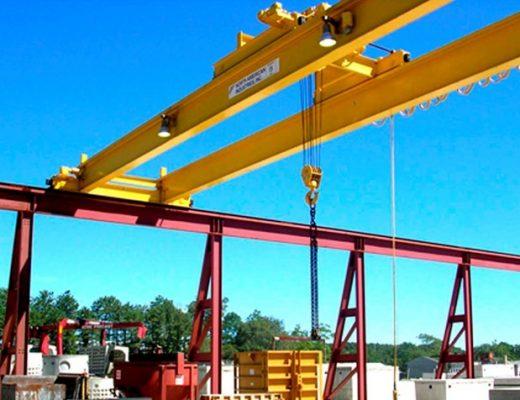 Design of crane - double-girder-eot-cranes-bridge-crab-hoisting-machinery-set-gantry-girder-rail-on-the-bridge